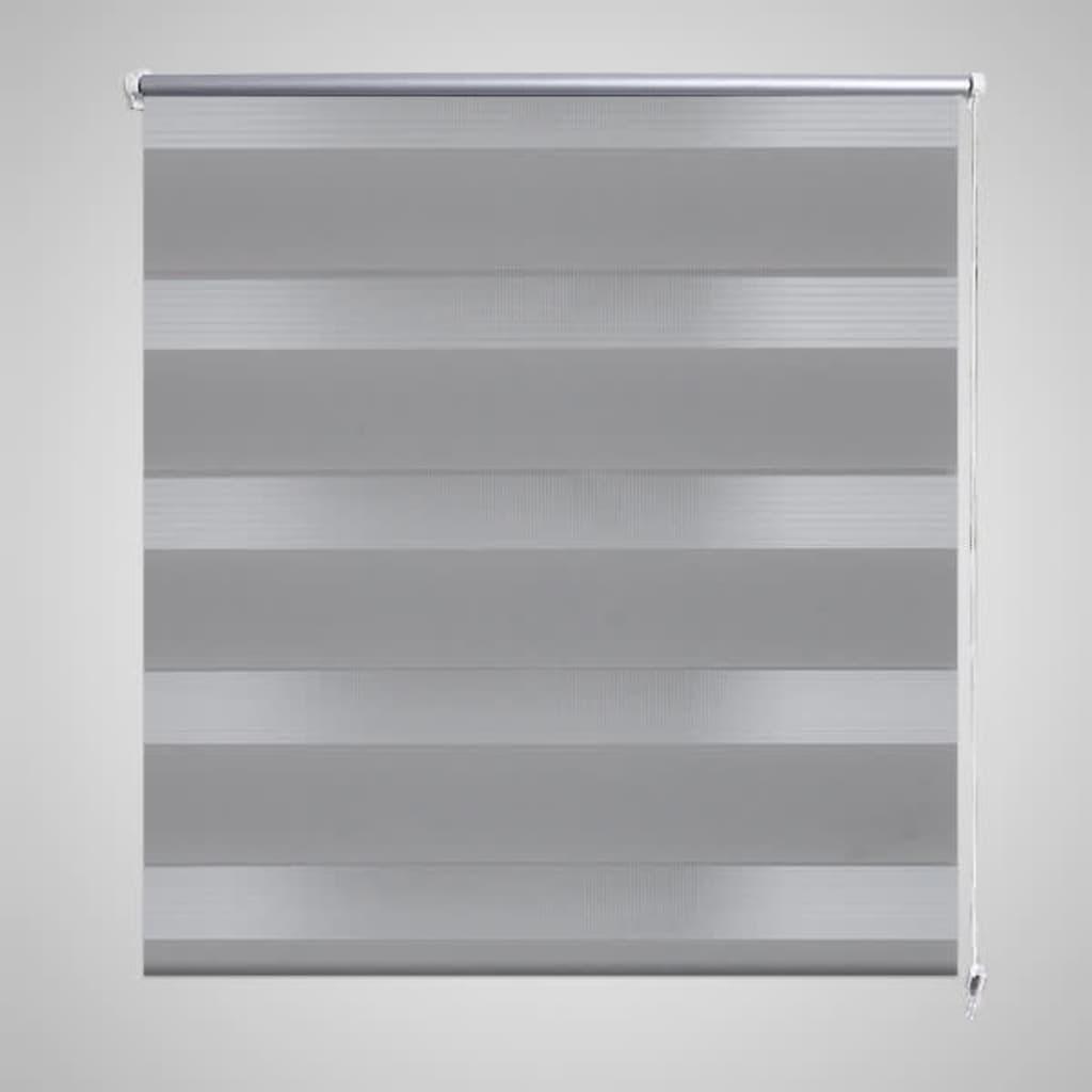 Rullgardin randig grå 120 x 230 cm transparent