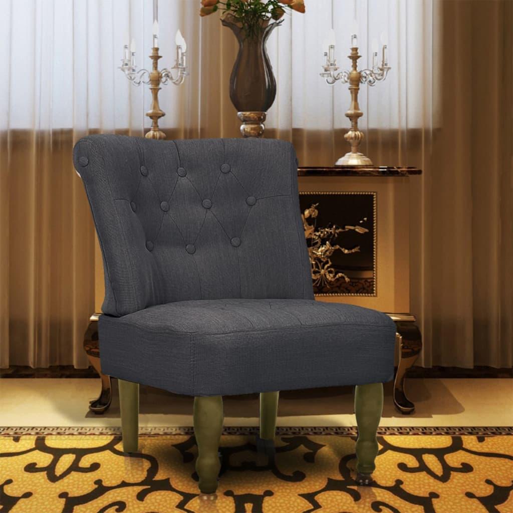 vidaXL 1 db francia szék / fotel szürke