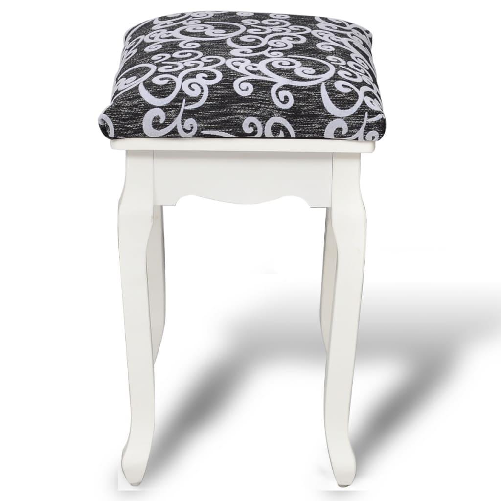 acheter tabouret pouf pour coiffeuse en bois pas cher. Black Bedroom Furniture Sets. Home Design Ideas