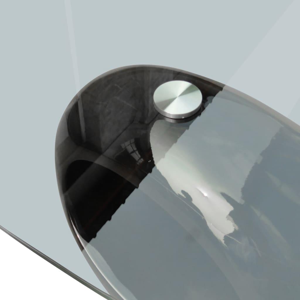 Der couchtisch beistelltisch glastisch rundtisch schwarz for Glastisch schwarz