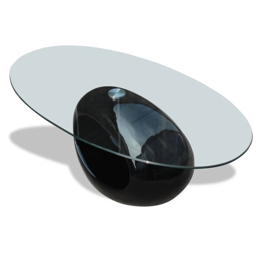 La boutique en ligne table basse en verre pied noir laqu - Pied pour table basse en verre ...