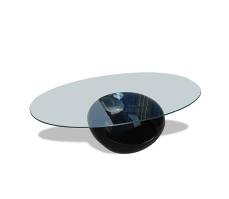 Couchtisch beistelltisch glastisch rundtisch schwarz im for Beistelltisch action