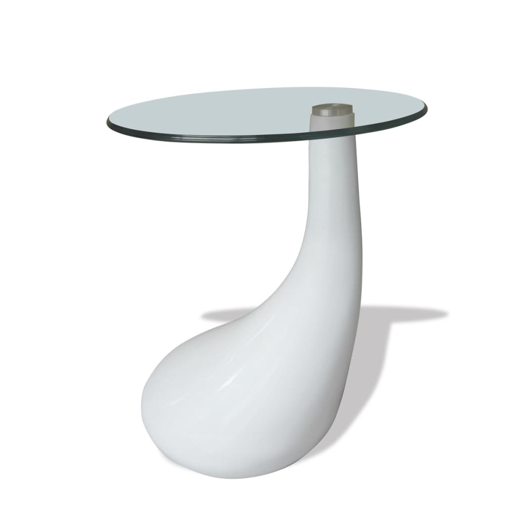 New-Modern-High-Gloss-Glass-Top-Drop-Coffee-Table-White-Side-Dinner-Office-Home