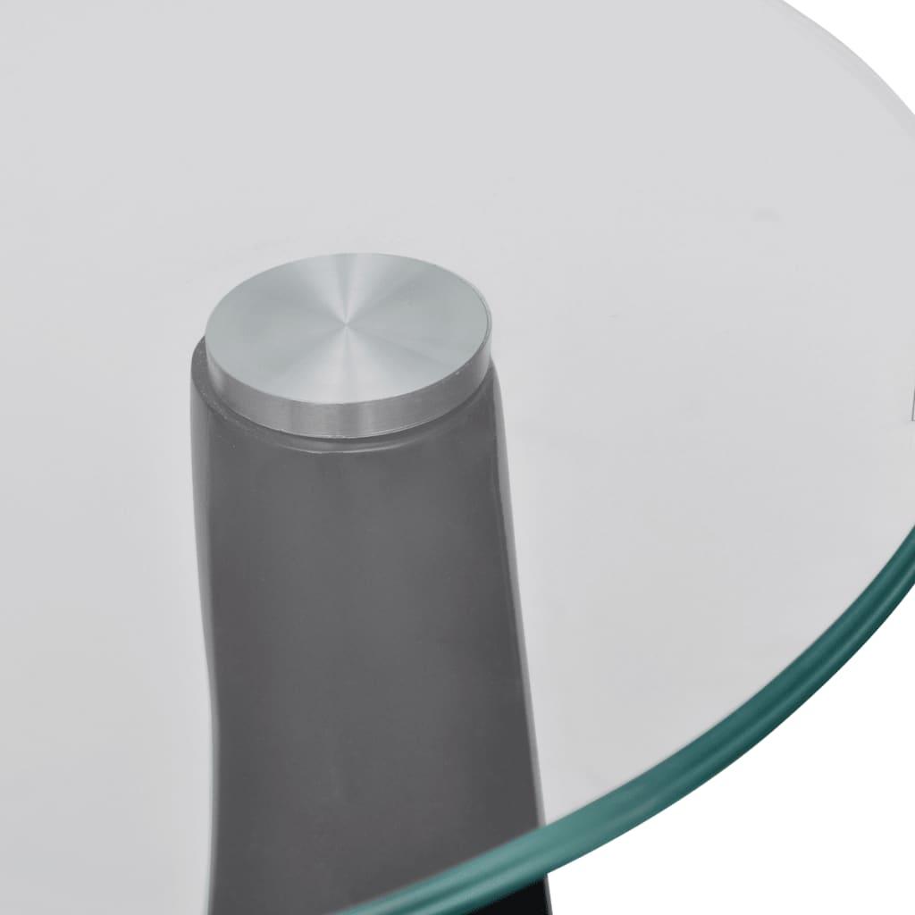 Der Design Couchtisch schwarz Beistelltisch Glas Tisch ...