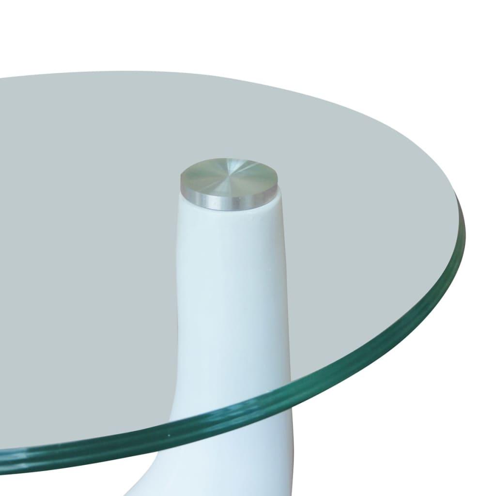 Articoli per Tavolini salotto set da 2 in vetro design bianco a goccia ...