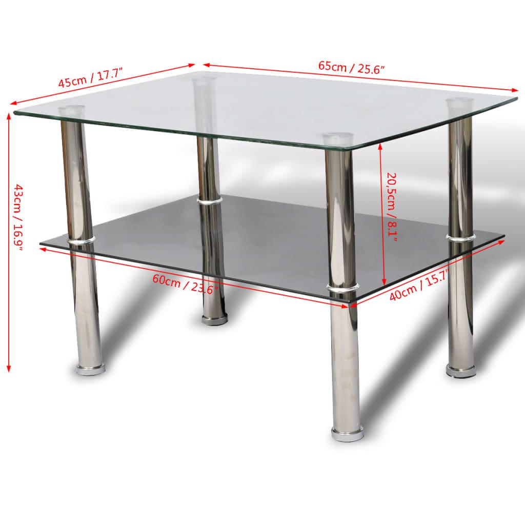la boutique en ligne table basse en verre 2 plateaux. Black Bedroom Furniture Sets. Home Design Ideas