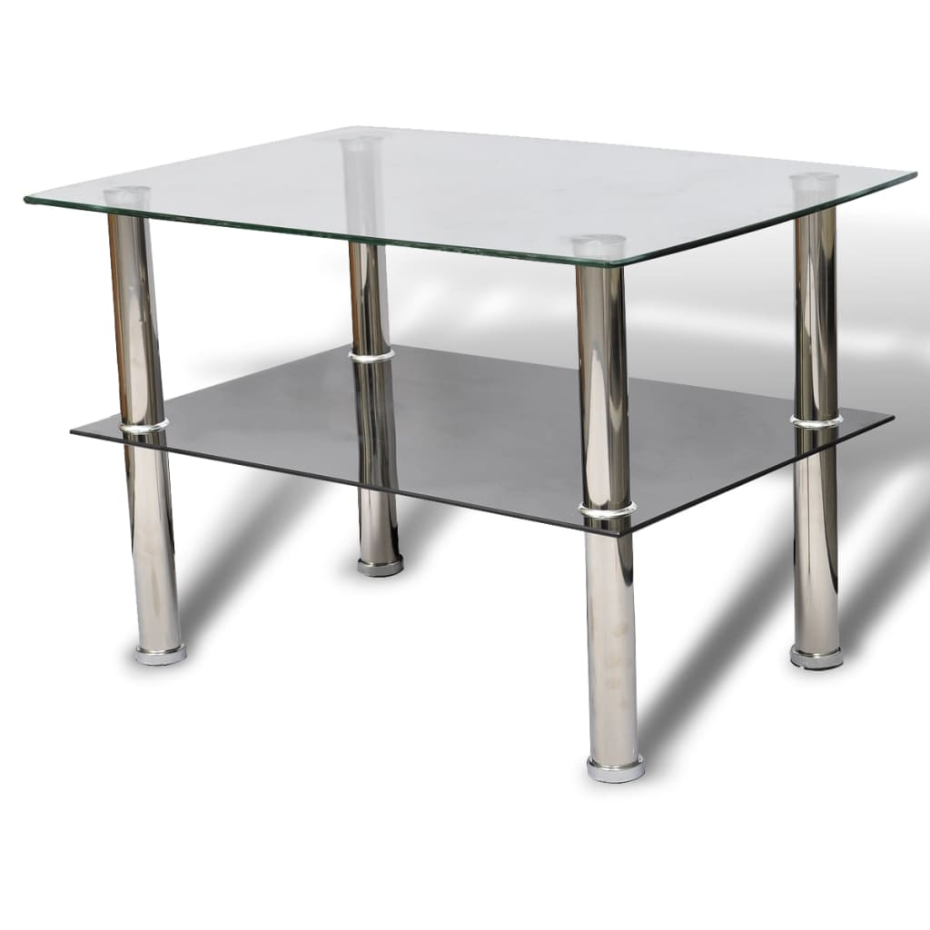 Glass coffee table 2 tiers Coffee tables glass