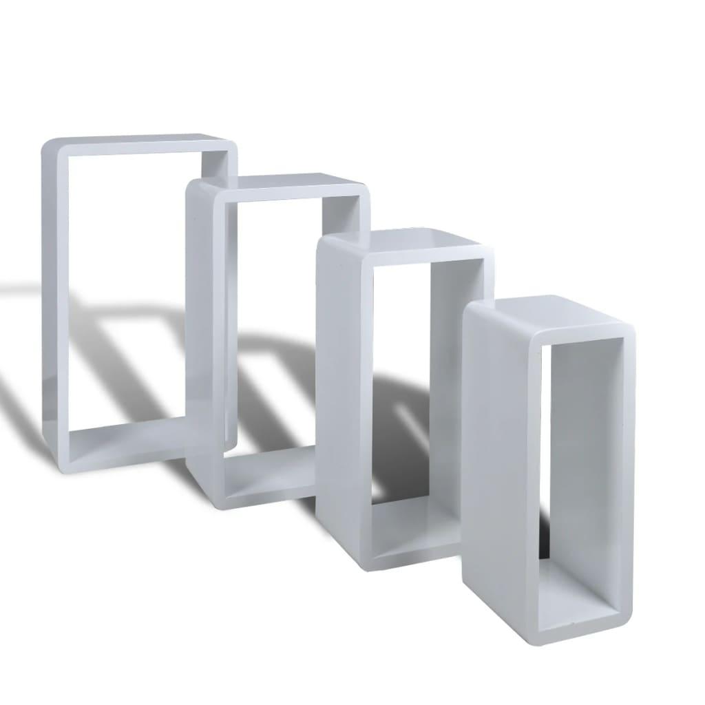 Afbeelding van vidaXL Kubusachtige plankenset 4 stuks wit