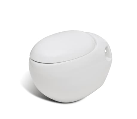ei design wand h nge wc toilette inkl soft close wc sitz wei schwarz 290433 ebay. Black Bedroom Furniture Sets. Home Design Ideas