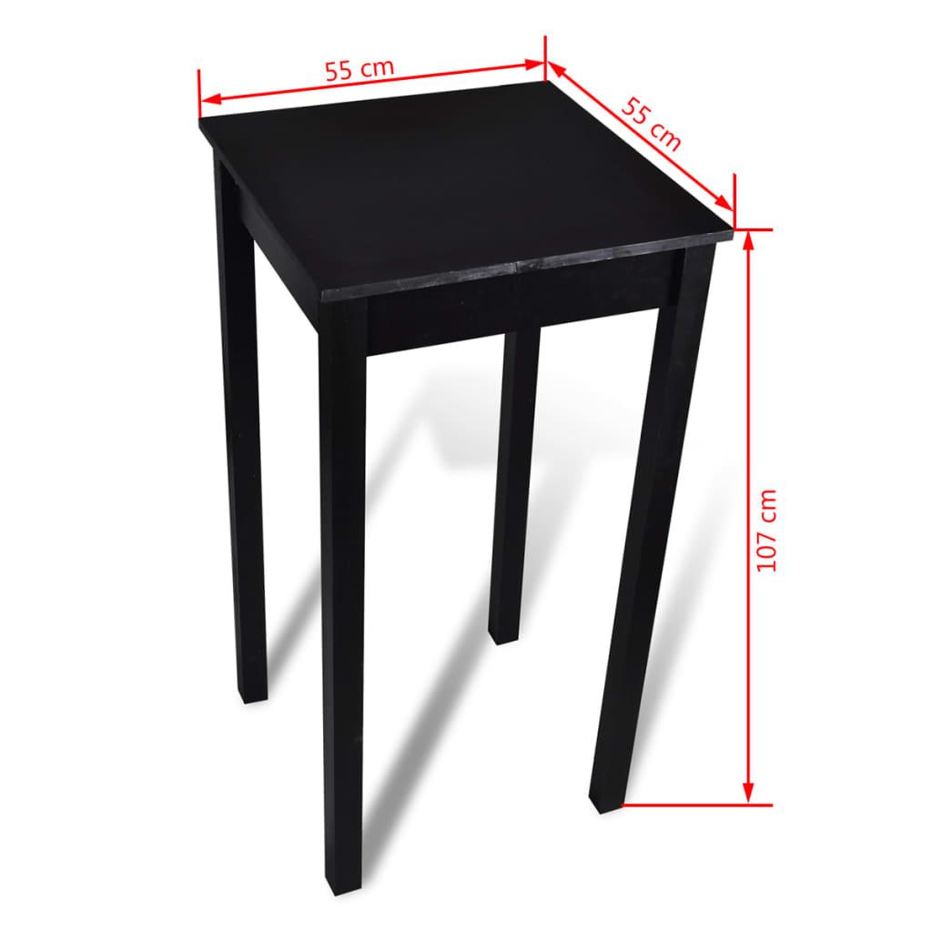 La boutique en ligne table bar table haute de cuisine 55 x 55 x 107 cm - Table bar de cuisine ...