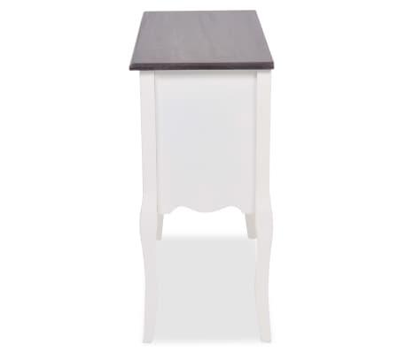 vidaxl armoire de console 6 tiroirs gris et blanc bois. Black Bedroom Furniture Sets. Home Design Ideas