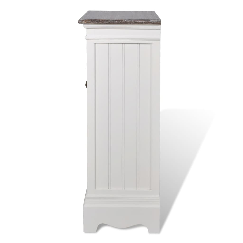 NEW-Cabinet-1-Drawer-2-Doors-White-Wood-Cupboard-Storage-Cabinet-High-quality