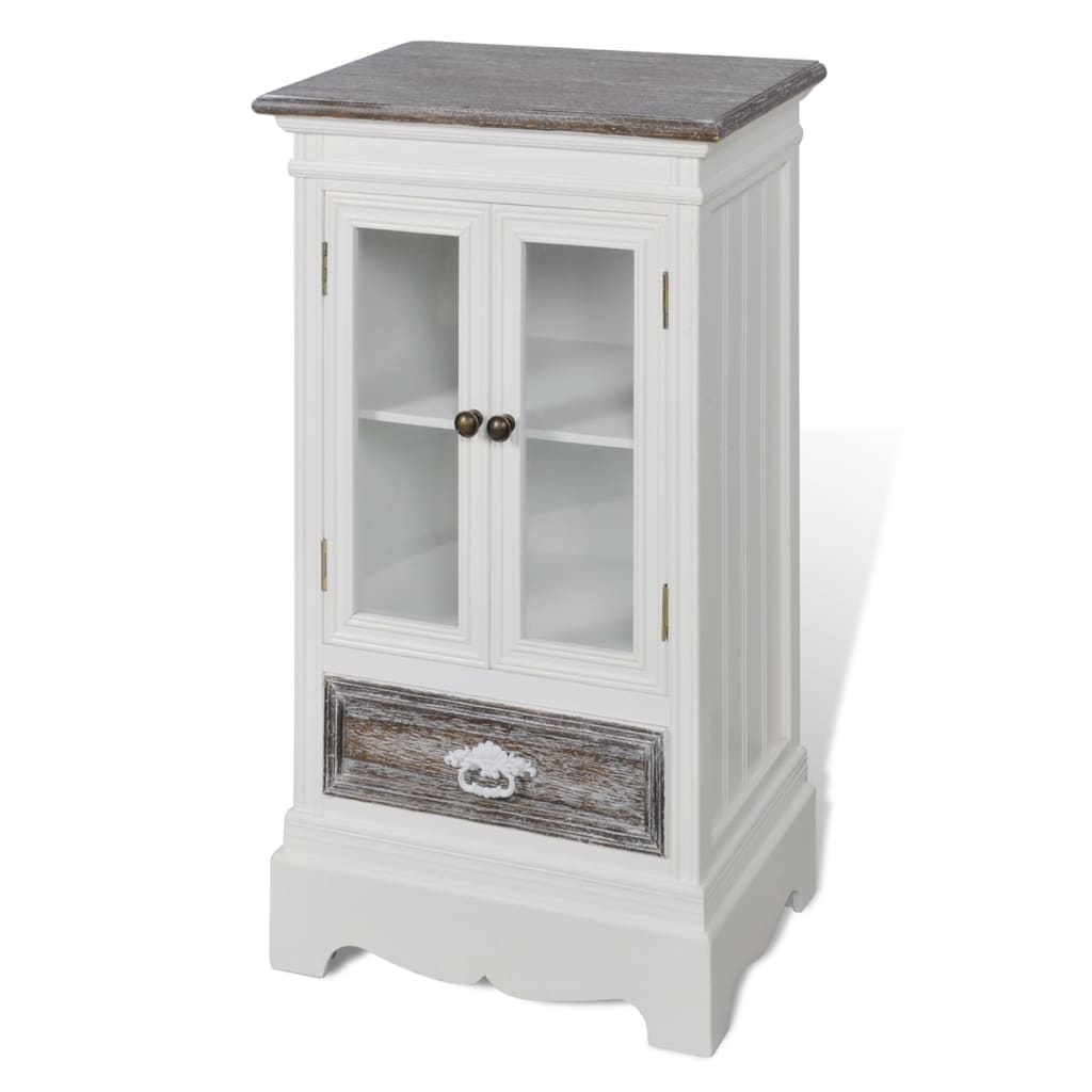 Cabinet 2 doors 1 drawer white wood for 1 door cupboard