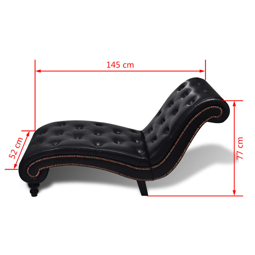 Chaise lounge sofa chesterfield brown button tufted www for Button tufted chaise settee