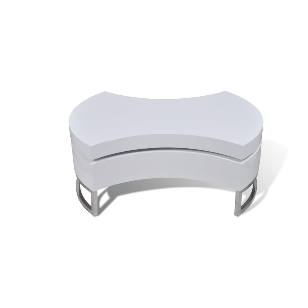 La boutique en ligne table basse pivotante en mdf blanche for Table basse laquee blanche