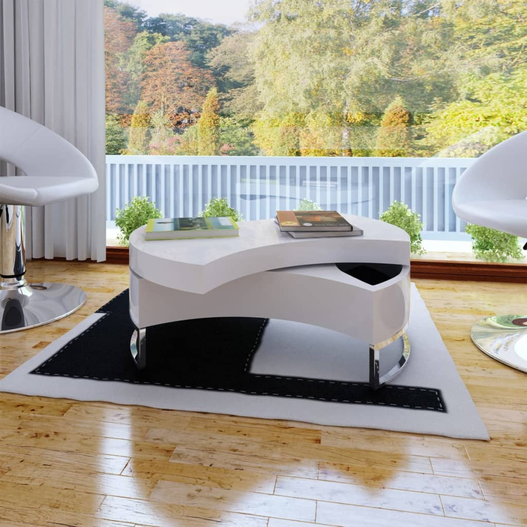 #bNEW Coffee Table Side Table Shape-adjustable High Gloss White/Black Selectable