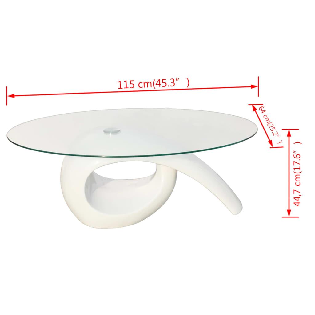 acheter table basse brillante blanche avec plateau en. Black Bedroom Furniture Sets. Home Design Ideas