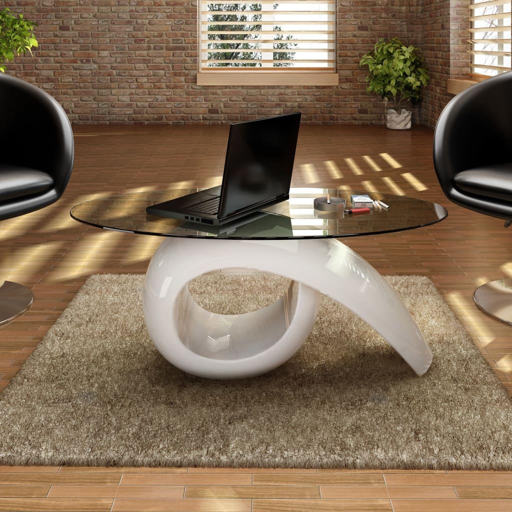 Table-basse-brillante-avec-plateau-en-verre-blanche-noire-au-choix