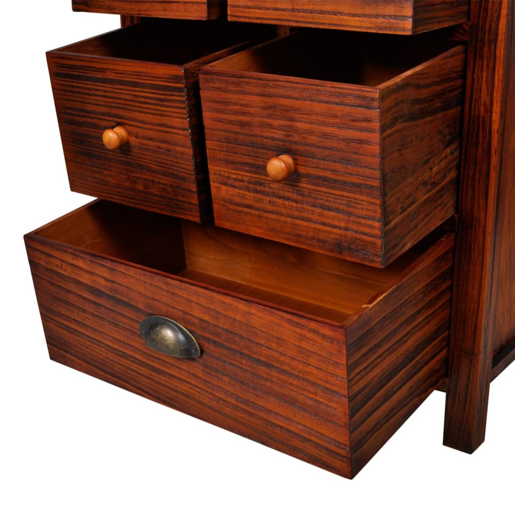 Amazing photo of vidaXL.co.uk Wooden Cabinet Brown with 7 Drawers with #B24818 color and 1024x1024 pixels