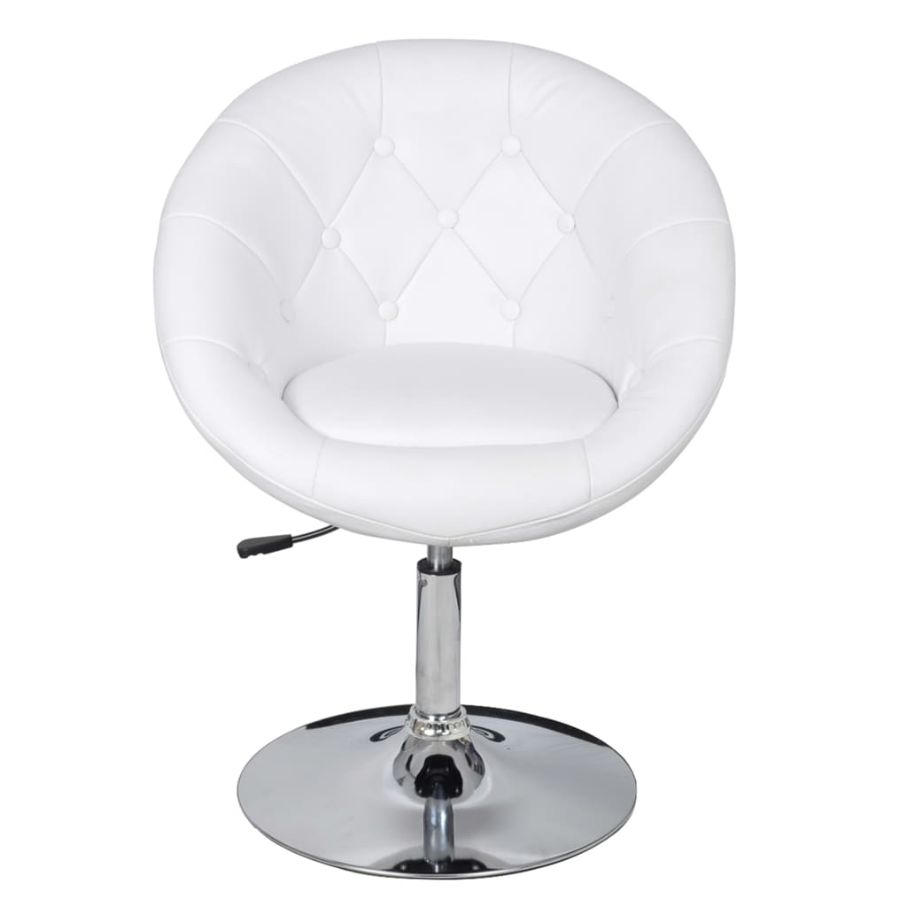 la boutique en ligne fauteuil r tro capitonn blanc pied tulipe chrom. Black Bedroom Furniture Sets. Home Design Ideas