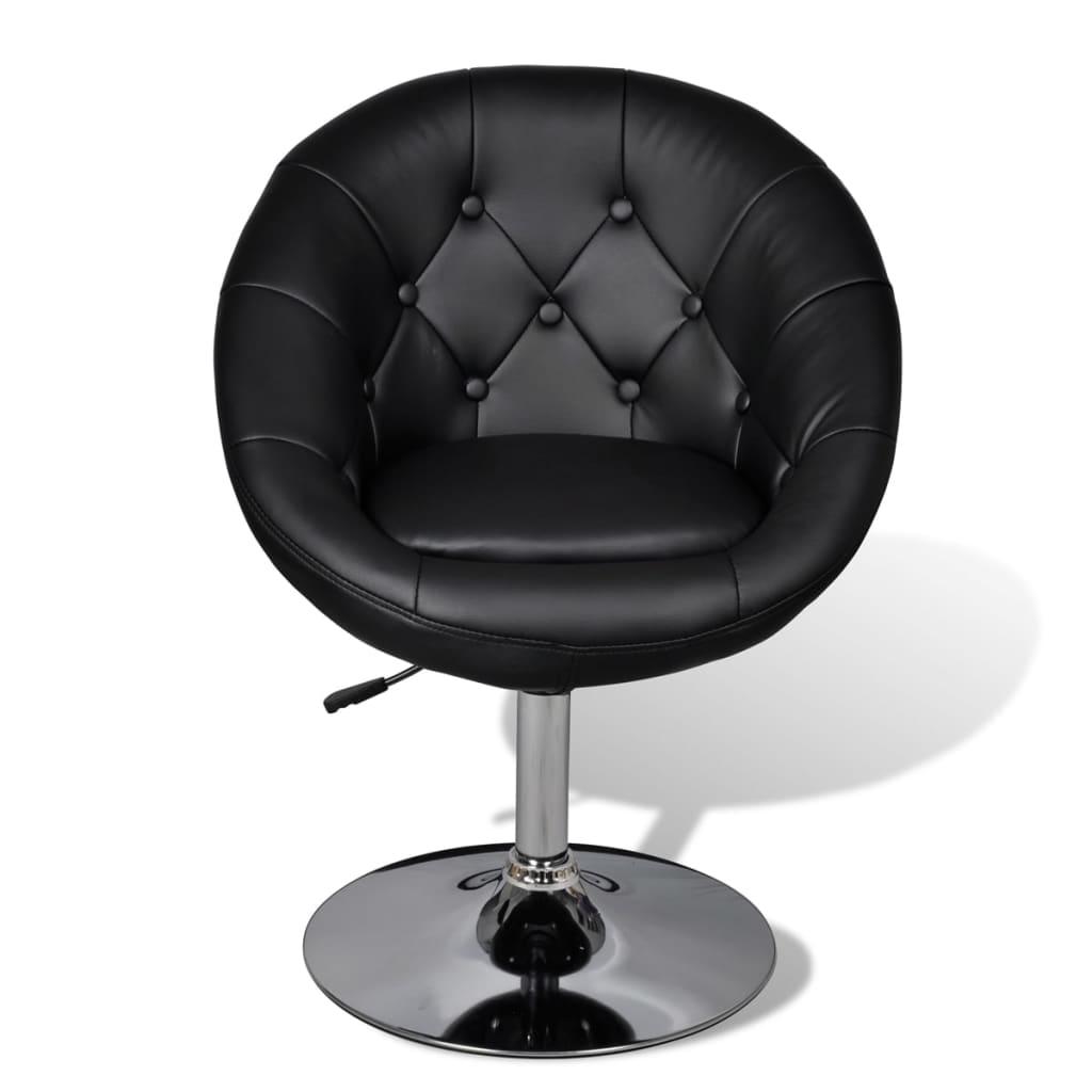 la boutique en ligne fauteuil r tro capitonn noir pied. Black Bedroom Furniture Sets. Home Design Ideas