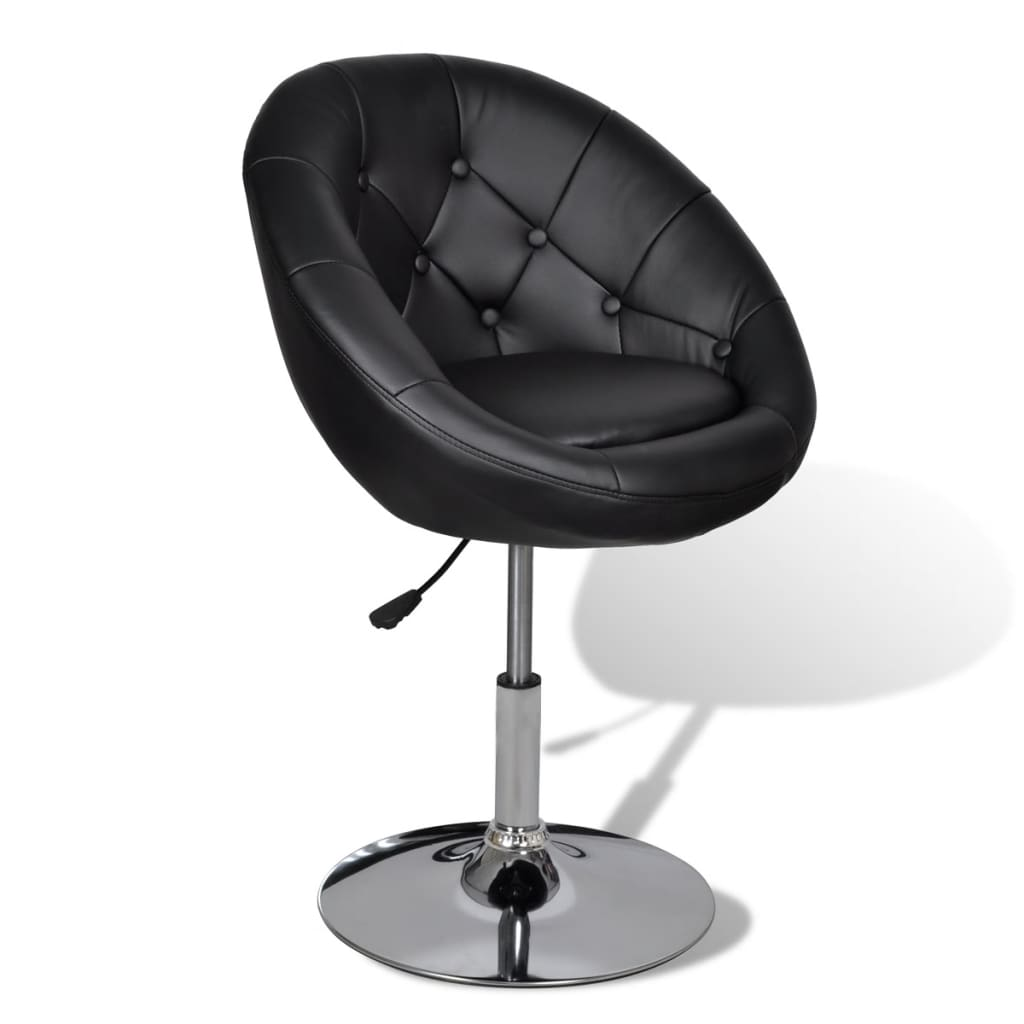 la boutique en ligne fauteuil r tro capitonn noir pied tulipe chrom. Black Bedroom Furniture Sets. Home Design Ideas