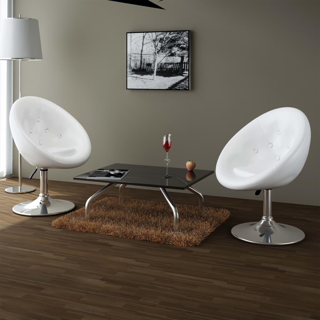 Vidaxl 2x silla club blanco bar comedor restaurant cafe for Sillas comedor diseno moderno