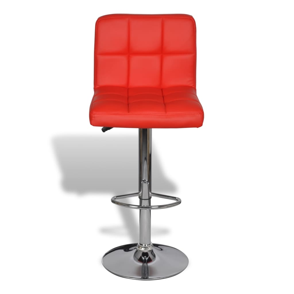 2 X Bar Stool Red Height Adjustable