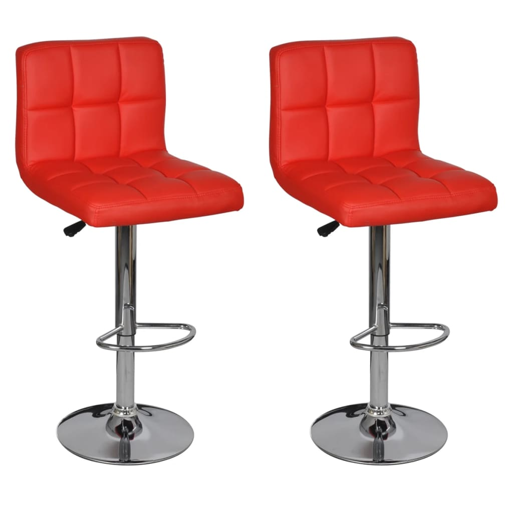 Der 2 x barhocker stuhl rot h henverstellbar online shop for Barhocker amazon