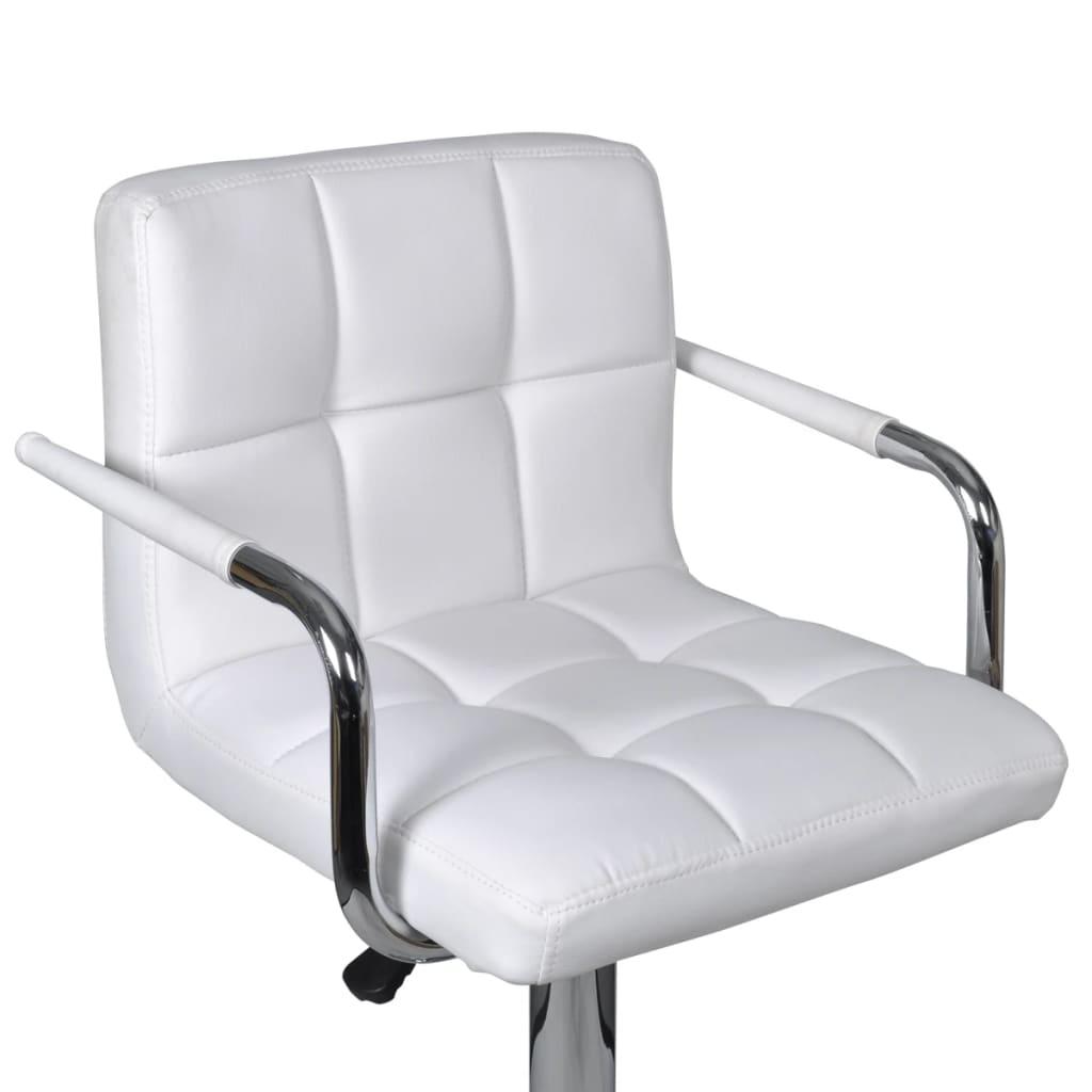 2 x barhocker bar stuhl wei mit armlehne for Barstuhl mit armlehne