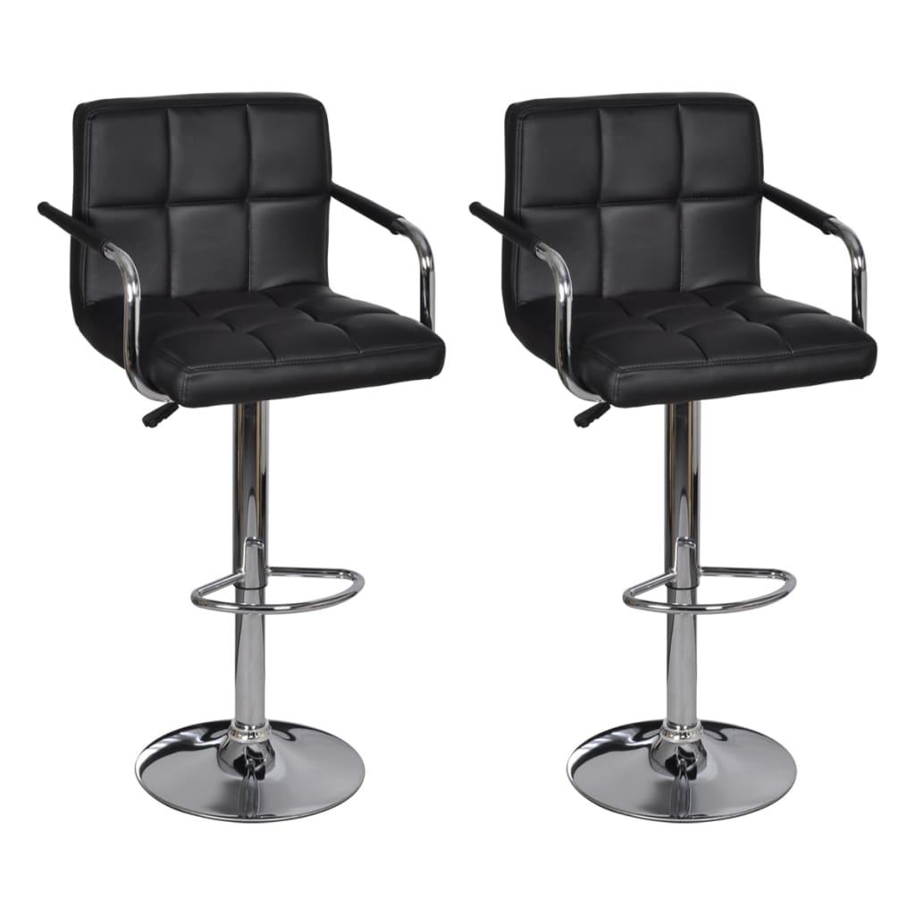 Lot-de-2-Tabourets-de-bar-noirs-avec-accoudoirs-confort-contreplaque-fer