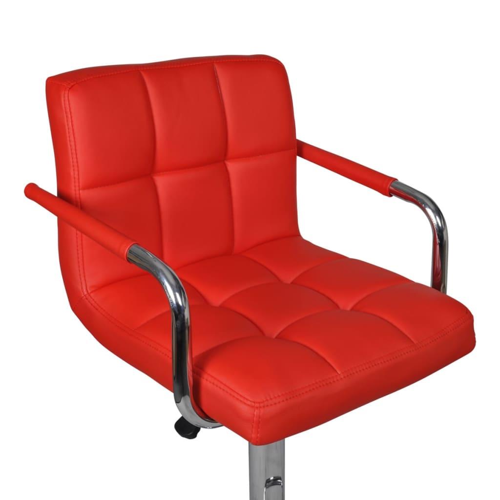 der 2 x barhocker bar stuhl rot mit armlehne online shop. Black Bedroom Furniture Sets. Home Design Ideas