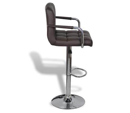 vidaxl tabouret de bar avec accoudoir 2 pcs marron. Black Bedroom Furniture Sets. Home Design Ideas