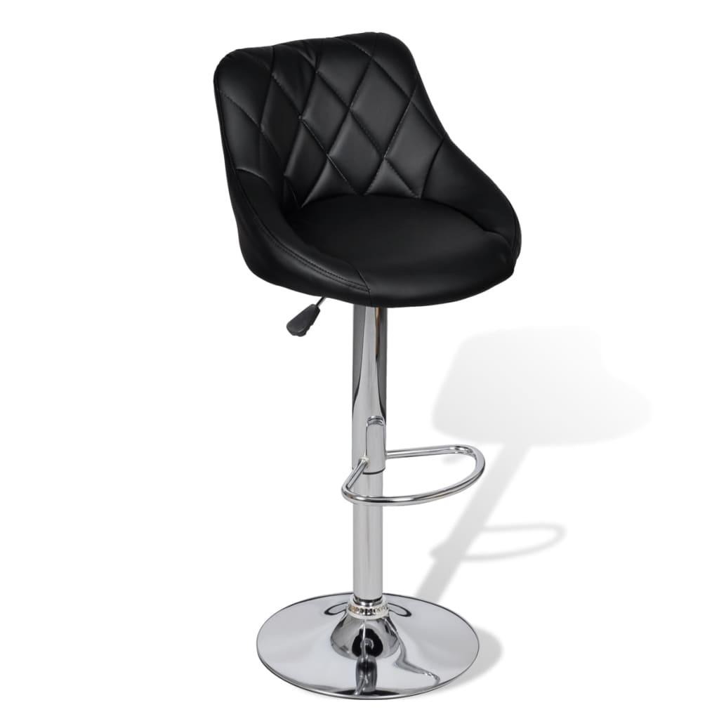 acheter lot de 2 tabourets de bar noirs design moderne pas cher. Black Bedroom Furniture Sets. Home Design Ideas