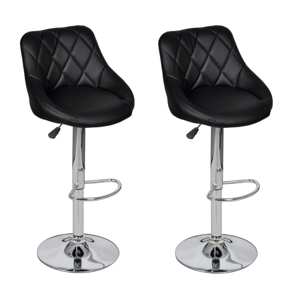 acheter lot de 2 tabourets de bar noirs design moderne pas. Black Bedroom Furniture Sets. Home Design Ideas
