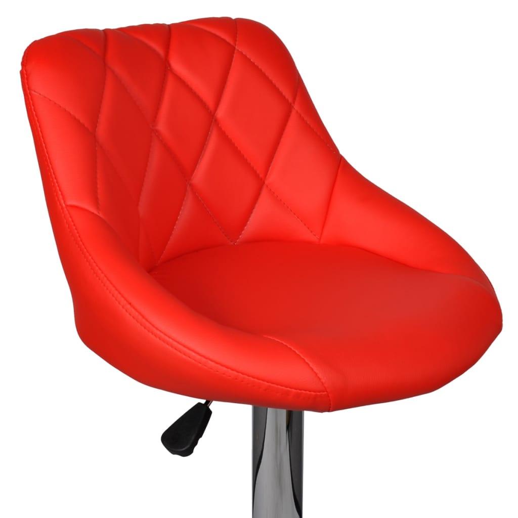 Vidaxl 2 x taburete de bar con reposabrazo rojo silla de bar asientos muebles ebay - Vidaxl sillas ...