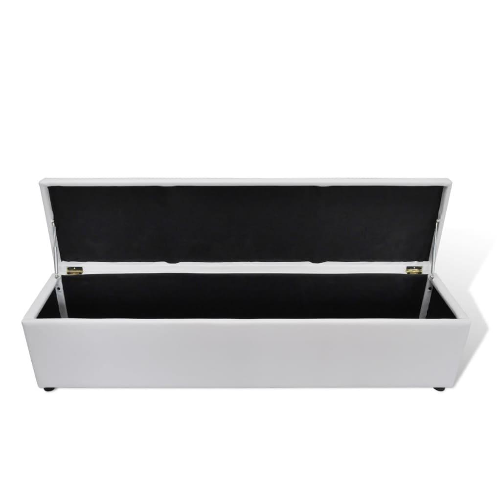 acheter banc banquette coffre de rangement blanc taille. Black Bedroom Furniture Sets. Home Design Ideas