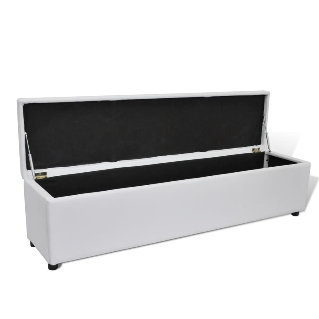 la boutique en ligne banc banquette coffre de rangement blanc taille large. Black Bedroom Furniture Sets. Home Design Ideas
