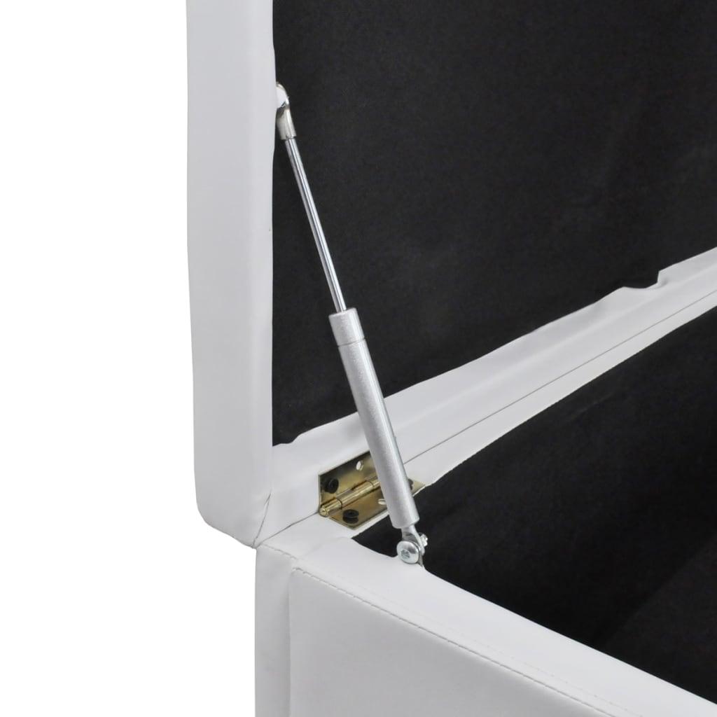 sitzbank sitztruhe aufbewahrungstruhe gepolstert wei gro. Black Bedroom Furniture Sets. Home Design Ideas