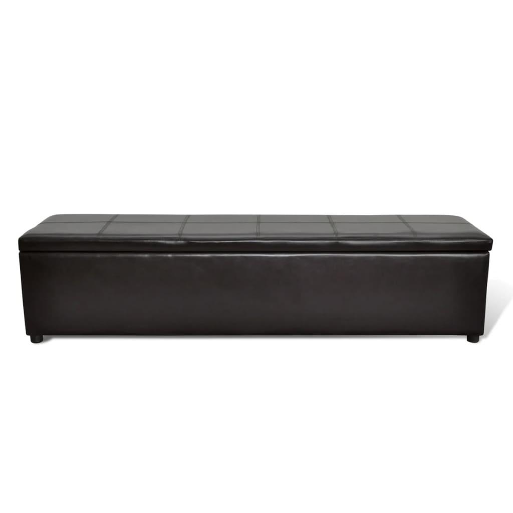 banc banquette coffre de rangement taille large blanc noir brun au choix ebay. Black Bedroom Furniture Sets. Home Design Ideas