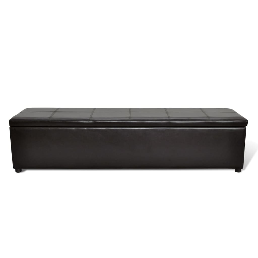 banc banquette coffre de rangement taille large blanc noir. Black Bedroom Furniture Sets. Home Design Ideas