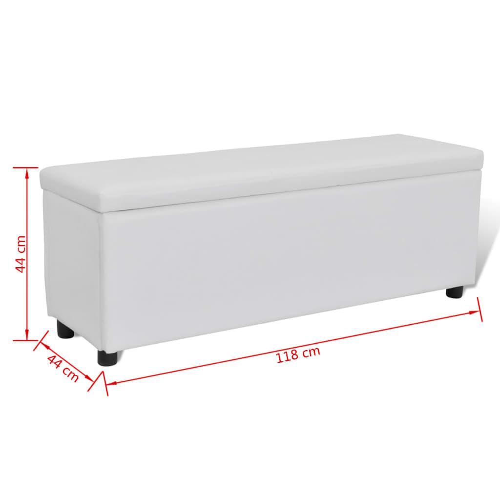 acheter banc banquette coffre de rangement blanc taille moyenne pas cher. Black Bedroom Furniture Sets. Home Design Ideas