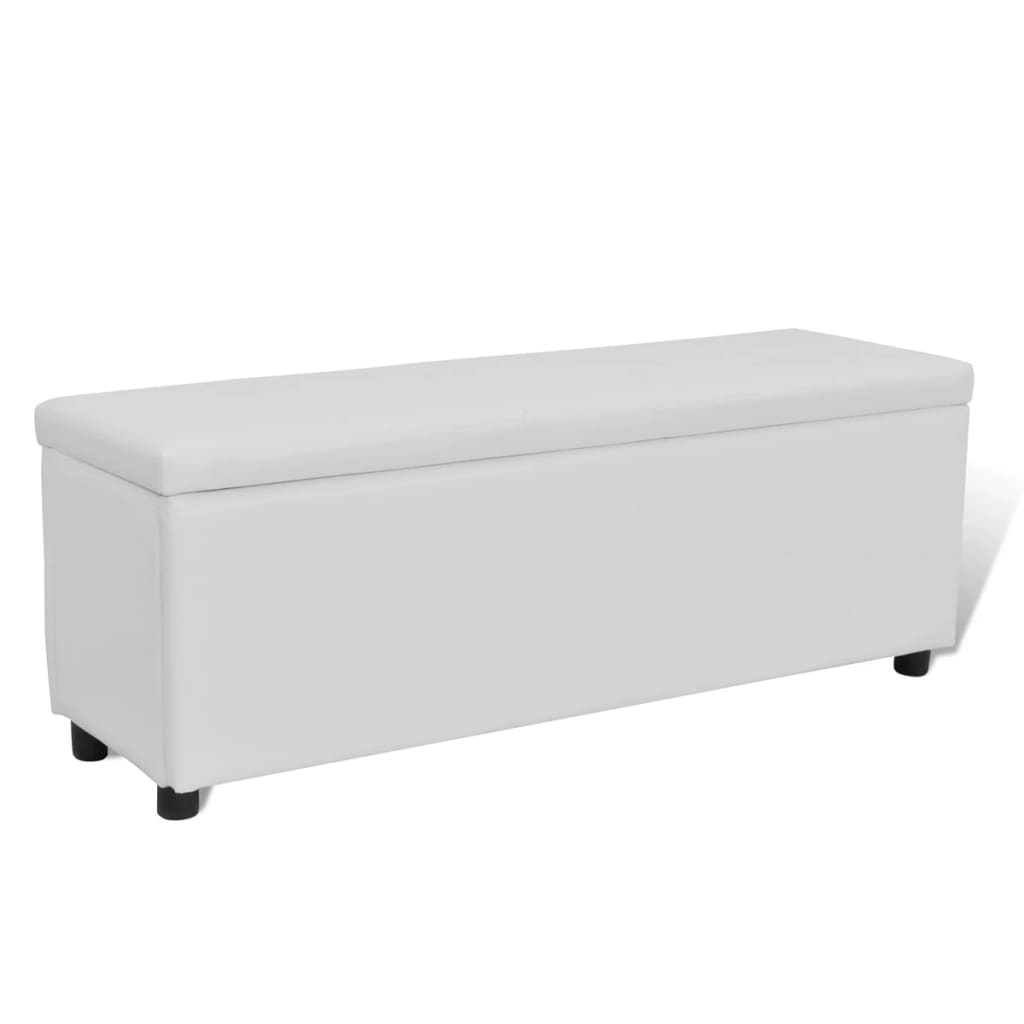acheter banc banquette coffre de rangement blanc taille. Black Bedroom Furniture Sets. Home Design Ideas