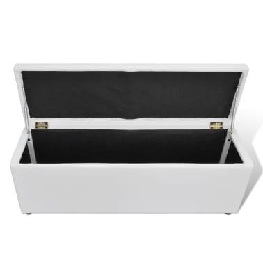 la boutique en ligne banc banquette coffre de rangement blanc taille moyenne. Black Bedroom Furniture Sets. Home Design Ideas
