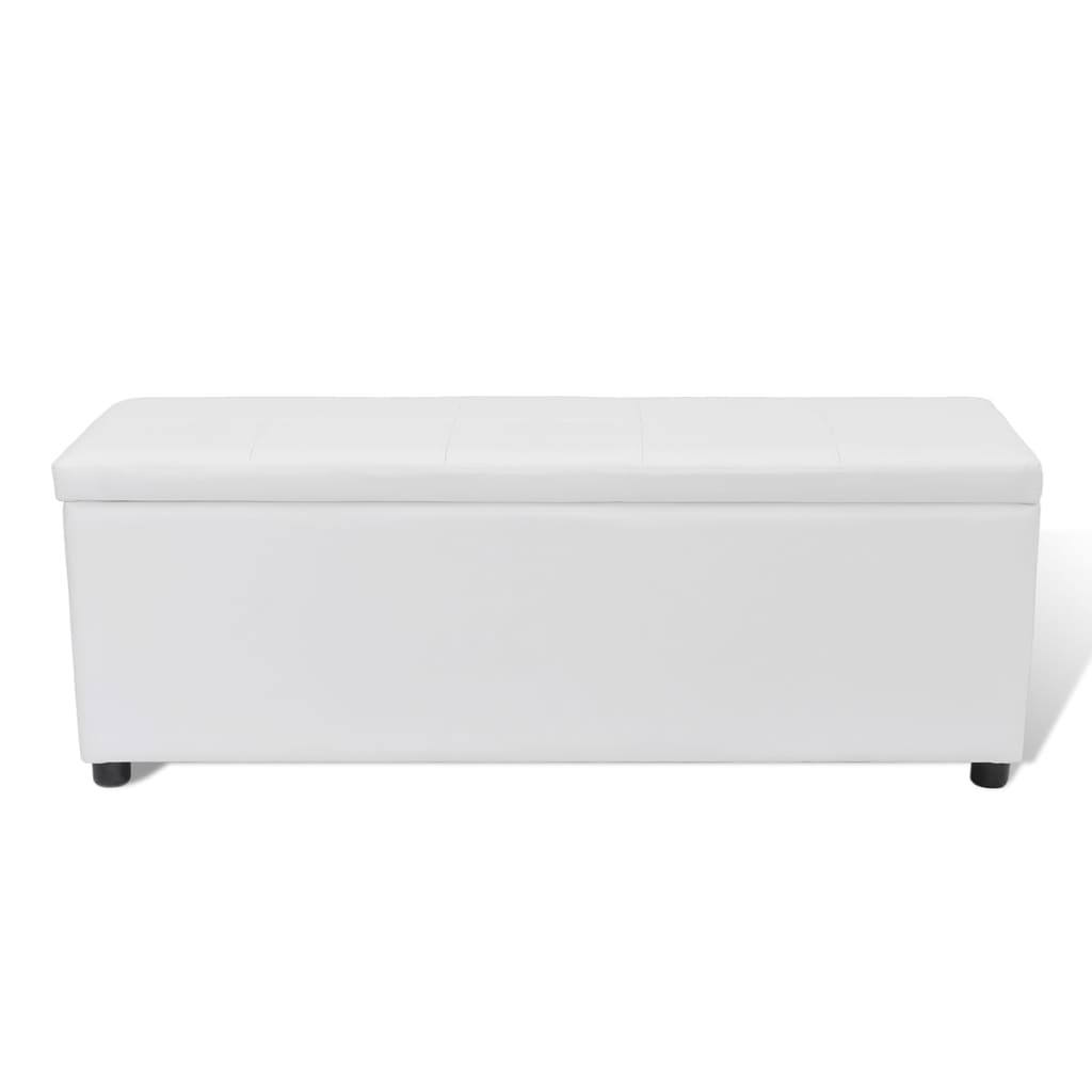 banc banquette coffre de rangement taille moyenne blanc. Black Bedroom Furniture Sets. Home Design Ideas
