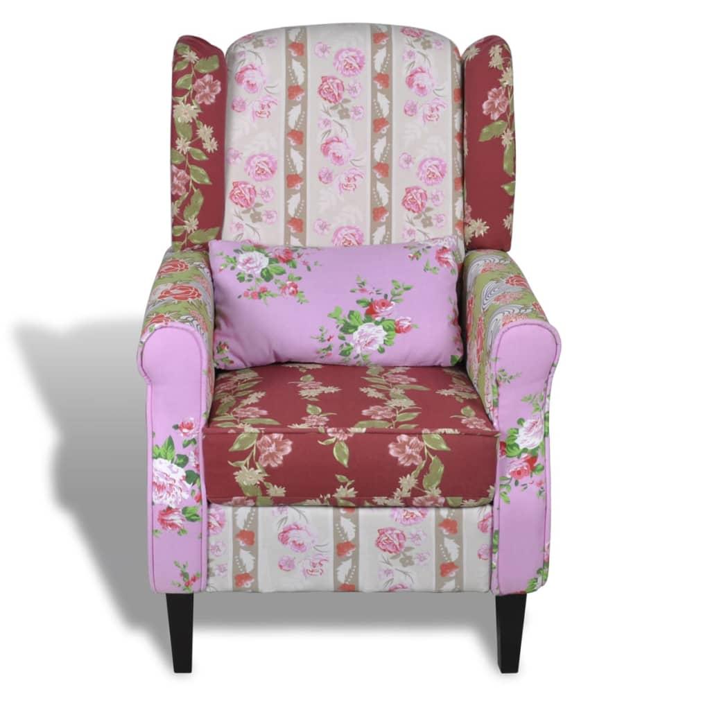 Poltrona relax patchwork design floreale stile pastorale - Poltrona relax design ...