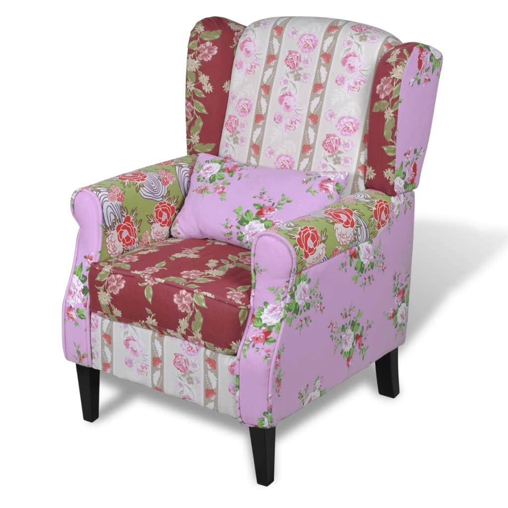 Patchwork Bloemendesign Fauteuil Import kopen