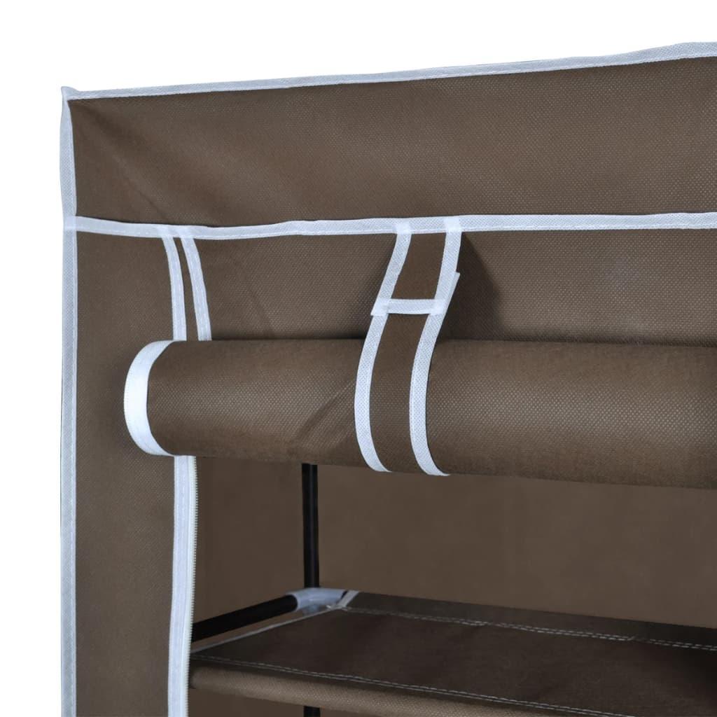 Schuhschrank schuhregal 8 schicht 57 x29 x162 cm braun for Schuhschrank schuhregal