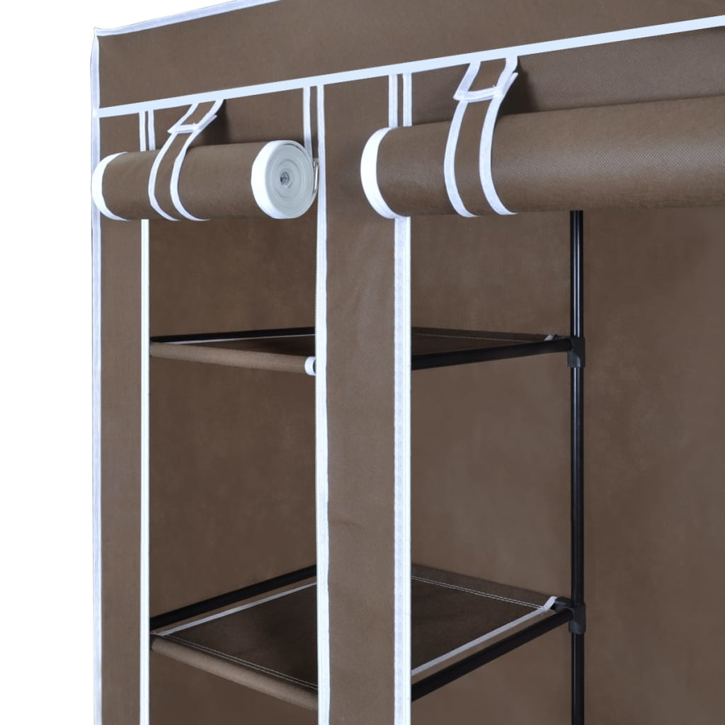 La boutique en ligne armoire penderie tissu 45 x 150 x176 cm brun - Armoire penderie profondeur 45 cm ...