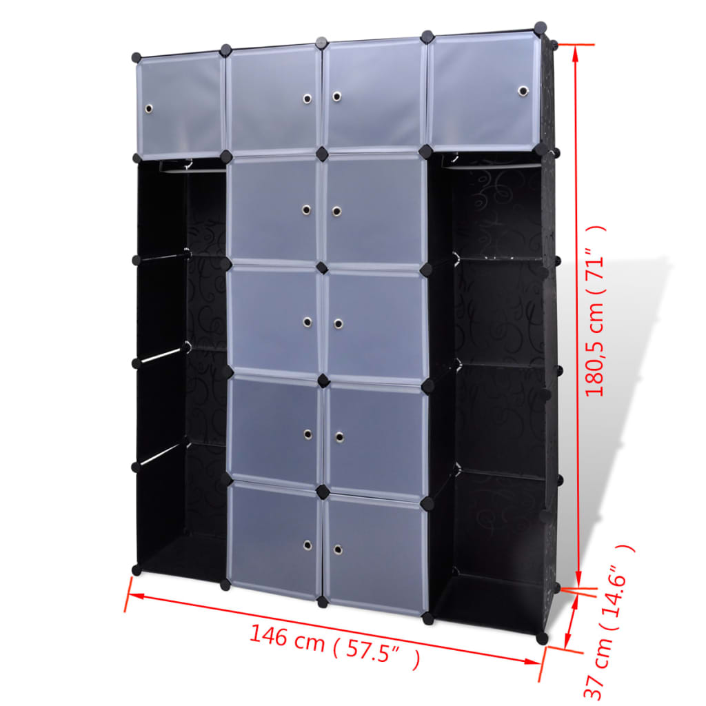 Modular Cabinet With 14 Compartments 14 6 X57 5 X71